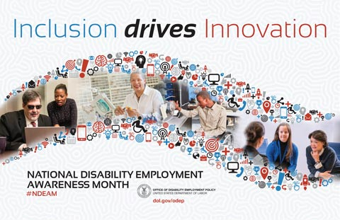 Celebrate NDEAM Poster (2017) : Inclusion drives Innovation