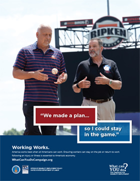 Working Works Poster: Cal Ripken, Richie Bancells