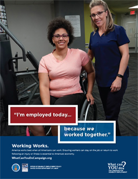 Working Works Poster: Chanelle Houston, Christine Crawford