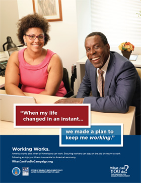 Working Works Poster: Chanelle Houston, Kevin Beverly