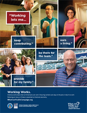 Working Works Poster: Working Lets Me
