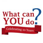 What Can You Do? Celebrating 10 Years Logo