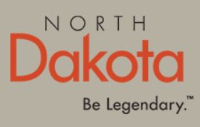 North Dakota State Logo - Be Legendary