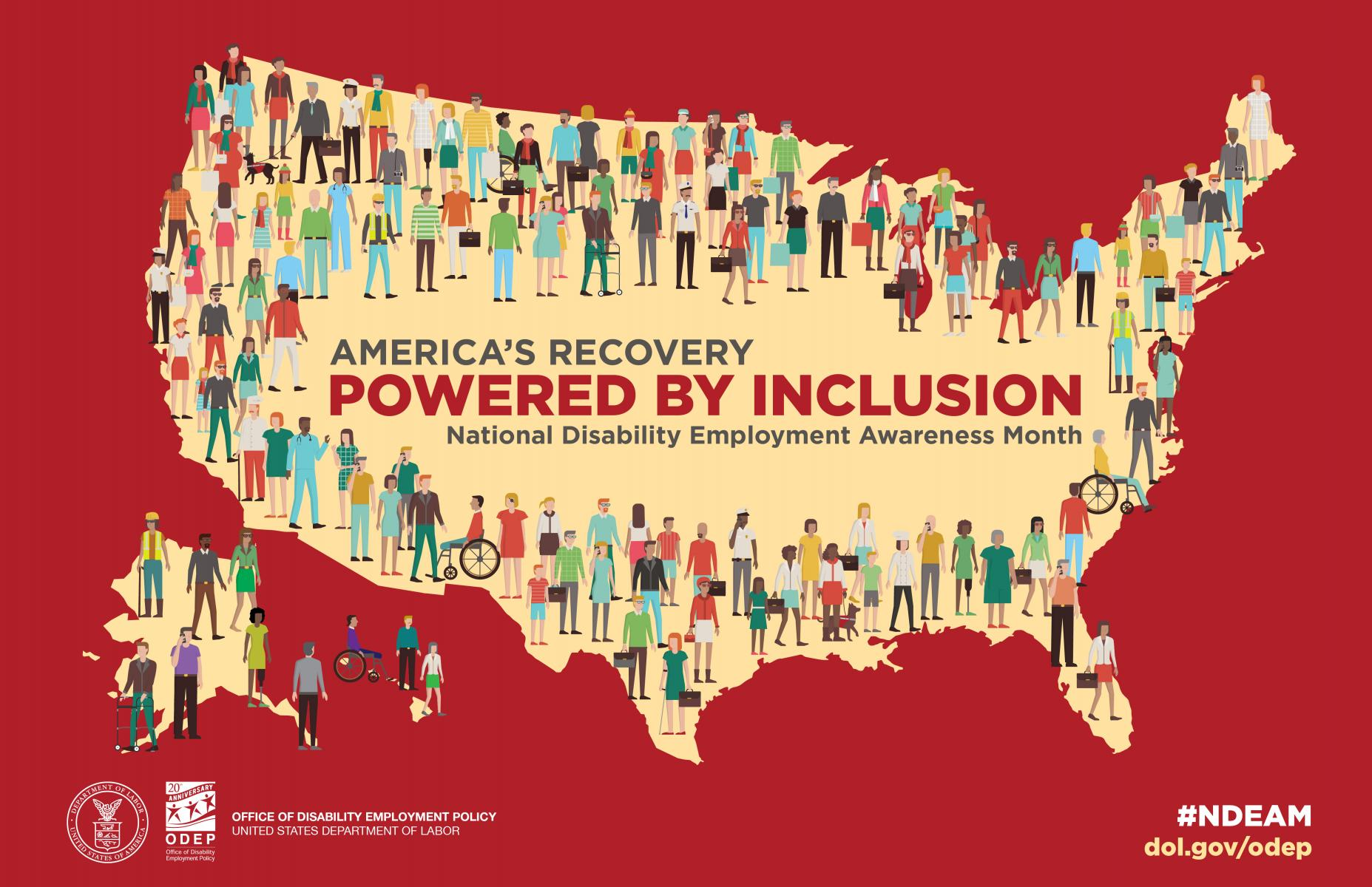 National Disability Employment Awareness Month 2021 Poster