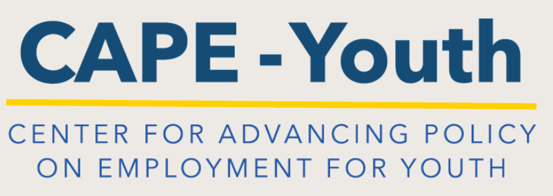 CAPE-Youth Center for Advancing Policy on Employment for Youth Logo